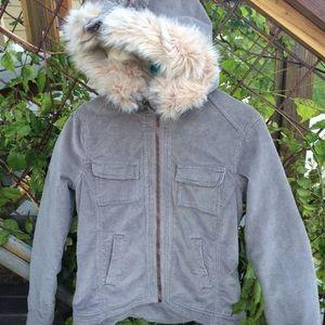 Bb Dakota size med women's corduroy jacket grey